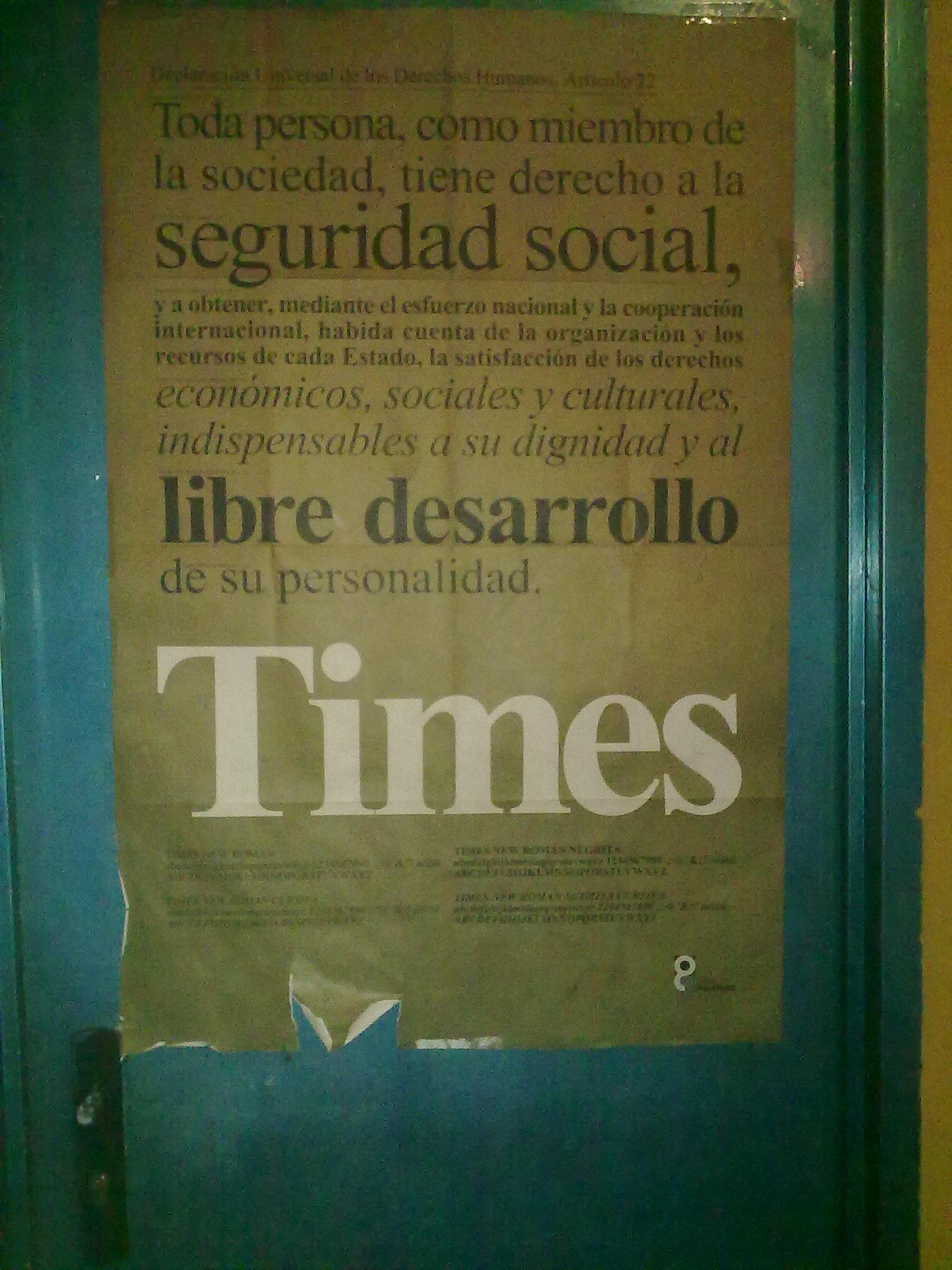 cartel tipográfico Times Roman